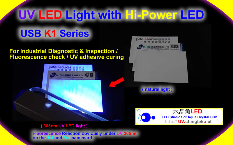 UV LED light wiht Hi-Power LED (UVA 400nm / 365nm ) - UV.Chingtek.net